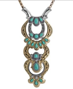 Two-Tone Green Turquoise Statement Necklace