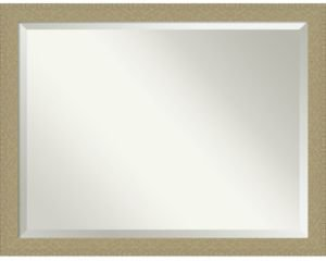 "Mosaic Gold-tone Framed Bathroom Vanity Wall Mirror, 44.25"" x 34.25"""