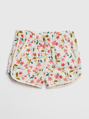 Toddler Floral Print Shorts In Twill