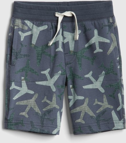 Toddler Print Pull-On Shorts In Stretch Jersey