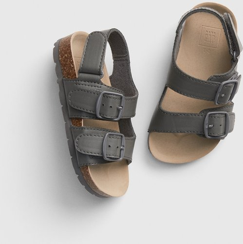 Toddler Faux-Leather Cork Sandals