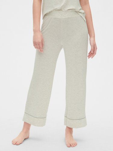 Crop Flare Pants in Modal