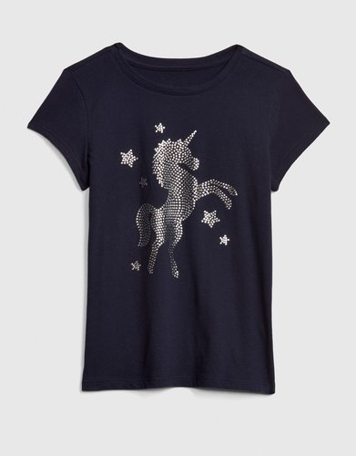 Kids Studded Graphic Short Sleeve T-Shirt
