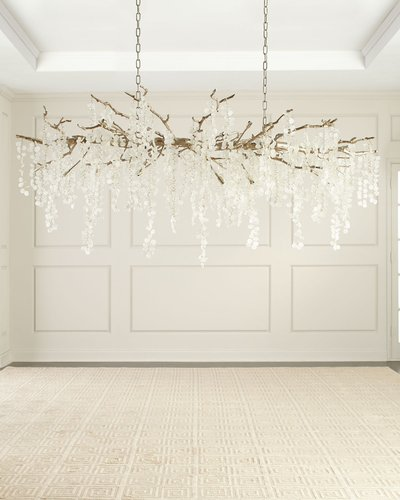 Shiro Noda 15-Light Glass Chandelier
