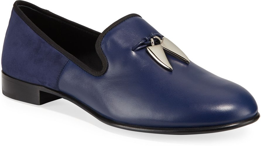 Shark Tooth Leather Loafers