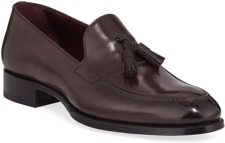 Aurland Leather Tassel Loafer