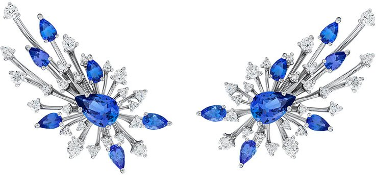 Luminus 18k White Gold Tanzanite & Diamond Earrings