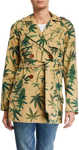 Take Me Higher Printed Trench Coat