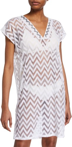 Embellished Chevron Coverup Tunic