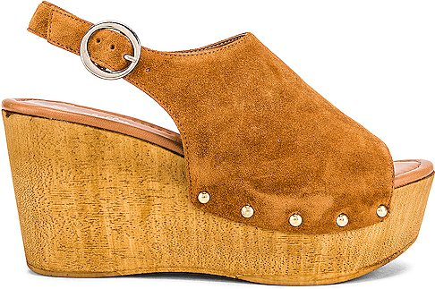 Elated Wedge in Cognac. - size 10 (also in 9)