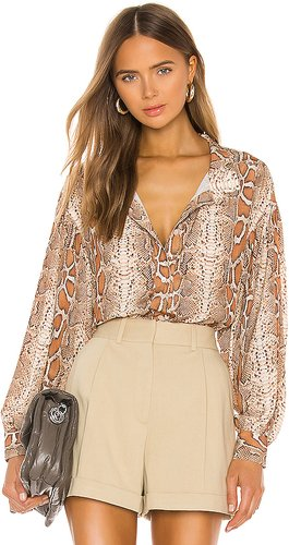 Poet Blouse in Brown. - size XS (also in S)