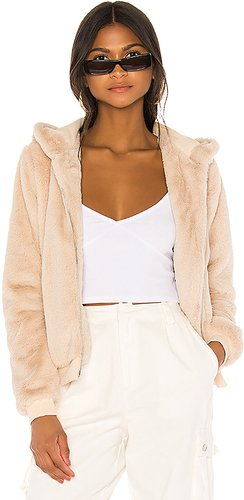 Marissa Hooded Jacket in Tan. - size L (also in M)