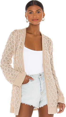 Relief Cardigan in Beige. - size M (also in L)