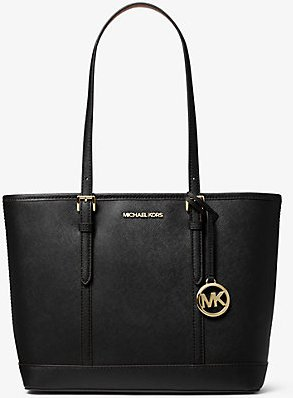 Jet Set Travel Small Saffiano Leather Top-Zip Tote Bag