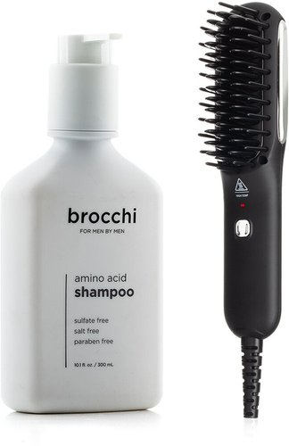 BROCCHI Hot Air Brush & Amino Acid Shampoo Bundle