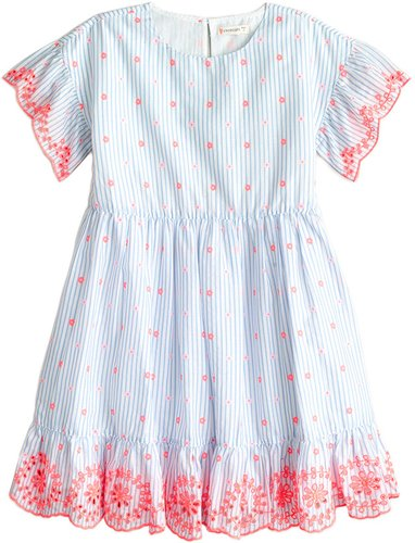 J.Crew Embroidered Scallop Dress