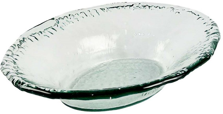 BIDKhome Small Recycled Glass Oval Dish