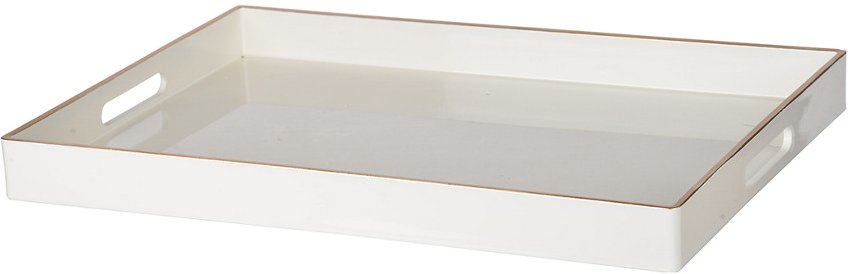 R16 Home Mimosa Rectangle Tray,White