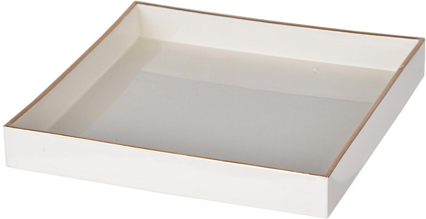 R16 Home Mimosa White Square Tray