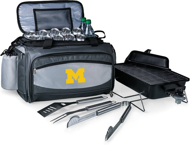 Michigan Wolverines Vulcan Portable BBQ and Cooler Tote
