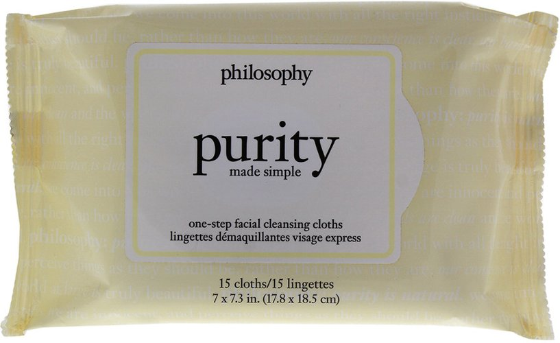 philosophy 15 Pc Purity Made Simple One Step Facial Cleansing Cloths