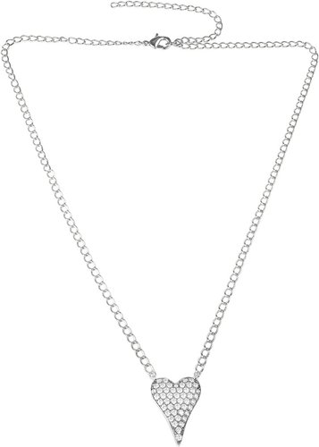 CZ by Kenneth Jay Lane Rhodium Plated CZ Necklace