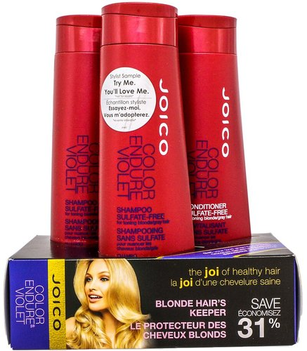Joico 3pc Blonde Hair's Keeper Color Endure Violet Value Set