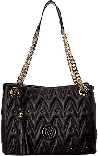 Valentino by Mario Valentino Luisa D Sauvage Studs Leather Shoulder Bag