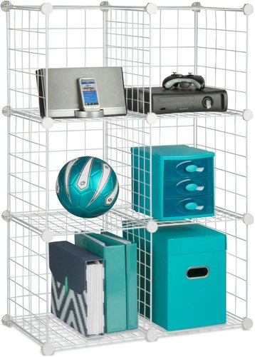 Honey-Can-Do Set of 6 Modular Wire Storage Cubes