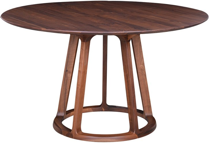 Moe's Home Collection Aldo Round Dining Table Walnut