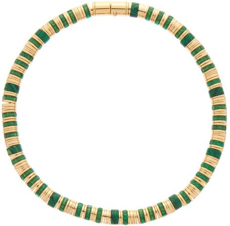 Malachite & 18kt Gold-plated Necklace - Womens - Green