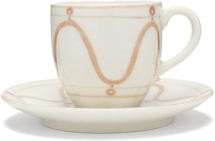 Serenity Porcelain Espresso Cup And Saucer - Beige White
