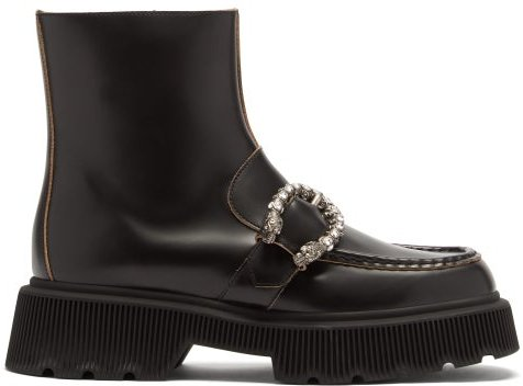 Hunder Dionysus-buckle Leather Boots - Womens - Black
