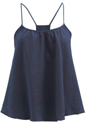 Scoop-neck Organic-cotton Cami Top - Womens - Navy