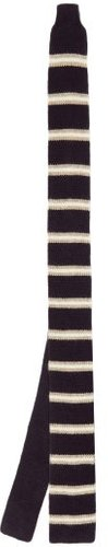Striped Knitted-cashmere Tie - Mens - Blue Multi