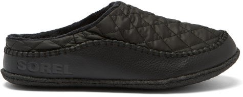Lanner Ridge Quilted-shell And Leather Slippers - Mens - Black