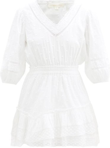 Adley Cotton Broderie-anglaise Dress - Womens - White