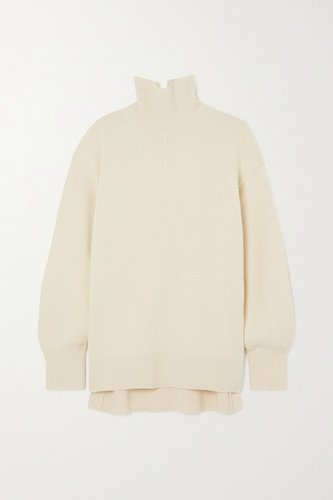 Wool Turtleneck Sweater - Ivory