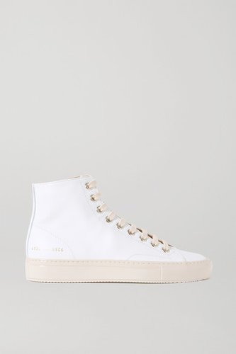 Tournament Leather High-top Sneakers - White