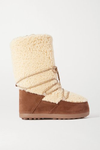 Cervinia Suede And Shearling Snow Boots - Brown