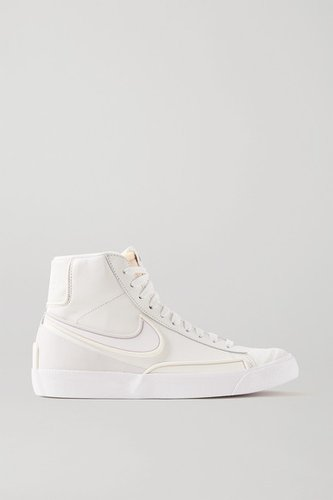 Blazer Mid '77 Infinite Textured-leather High-top Sneakers - White