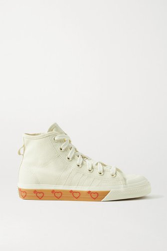 Human Made Nizza Hi Rubber-trimmed Canvas High-top Sneakers - Off-white