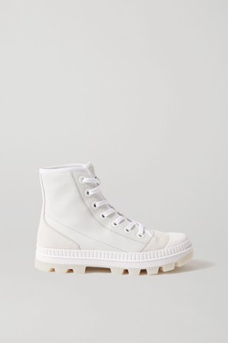 Nord Suede And Rubber-trimmed Leather High-top Sneakers - White