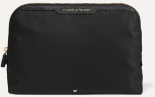 Lotions And Potions Leather-trimmed Shell Cosmetics Case - Black