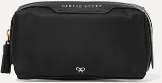 Girlie Stuff Leather-trimmed Shell Cosmetics Case - Black