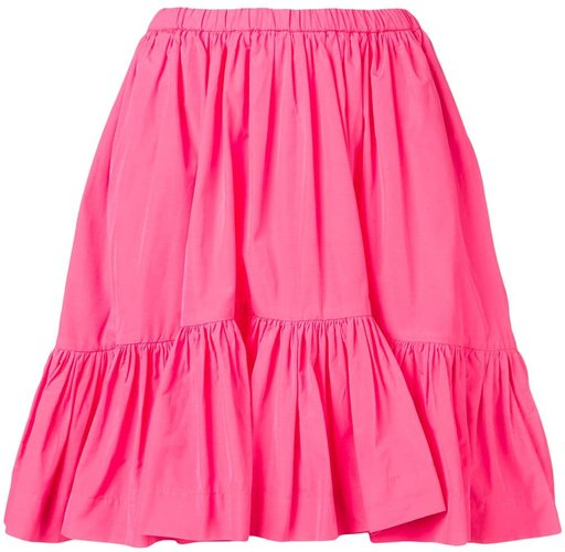 ruched panelled skirt - PINK