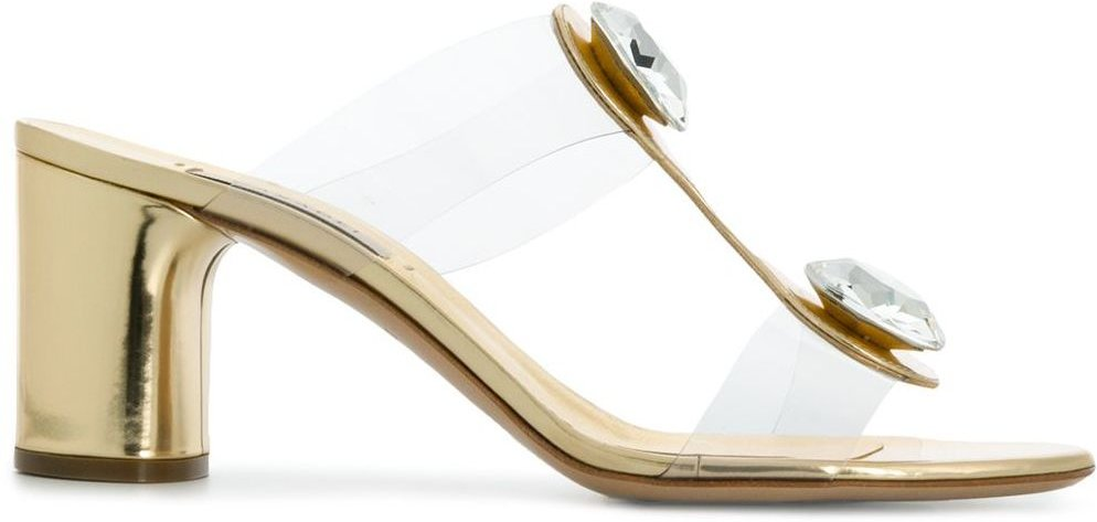 jewelled sandals - GOLD