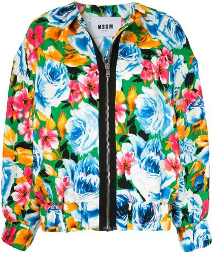 floral pattern bomber jacket - Multicolour