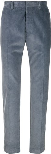 Cigarette Fit Trousers - Brown