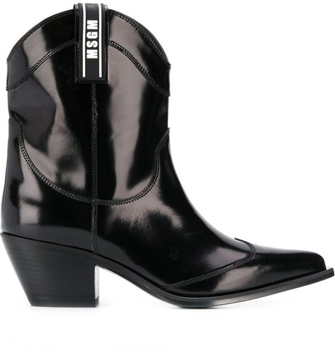 western style boots - Black